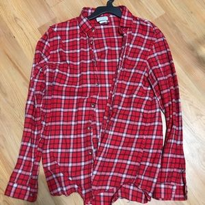 Zara - Red Plaid Flannel Button down Size L/XL